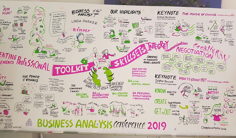 Sketched note image to summarise the IIBA conference