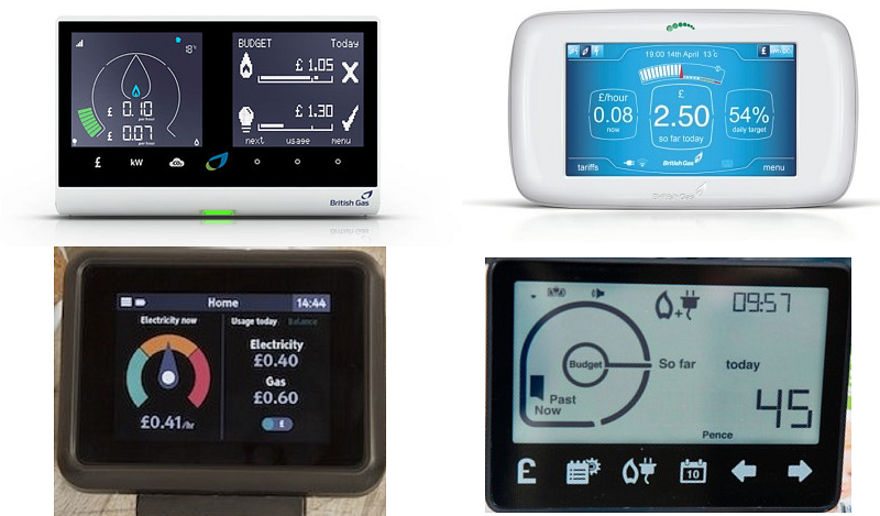We used eye-tracking to test these four smart meter interfaces