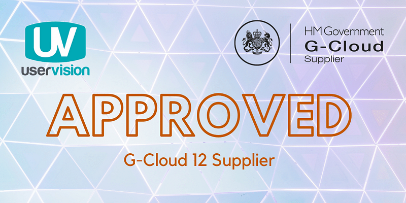 User Vision G-Cloud 12 Approved Supplier