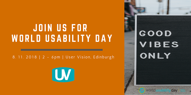 Join us for World Usability Day