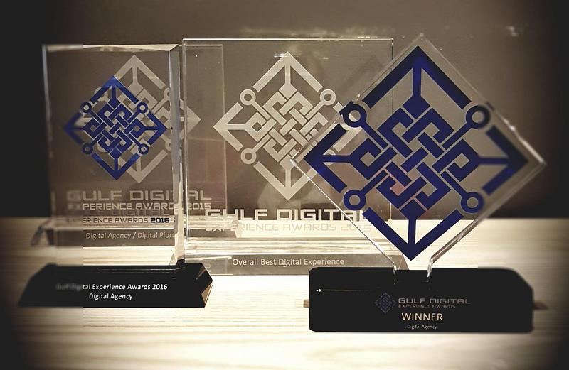 Best Digital Agency award at the Gulf Digital Experience Awards 2017