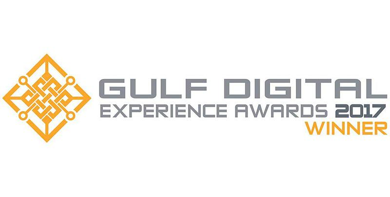 Gulf Digital Experience Awards 2017 winner